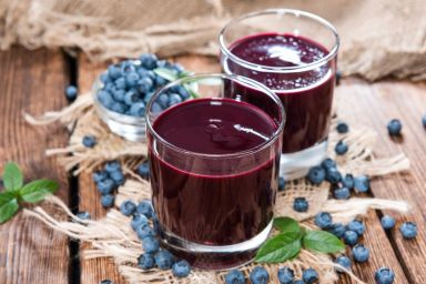 Domowy sok z jagód bez cukru