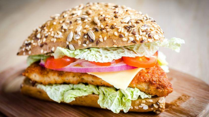 Drobiowe, domowe fit hamburgery