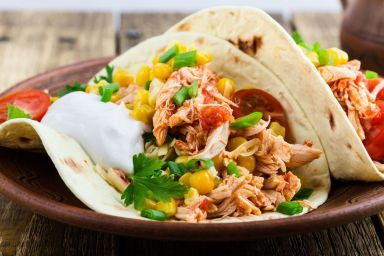 Tacos z kurczakiem i guacamole