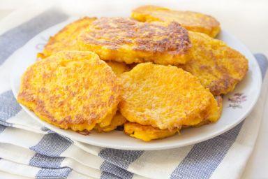 Placuszki z dyni z mąką kukurydzianą