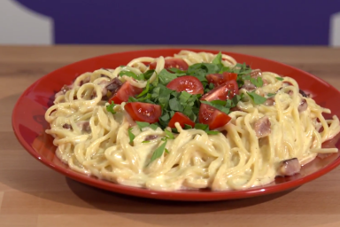 Spaghetti carbonara wg Agnieszki Rasiak