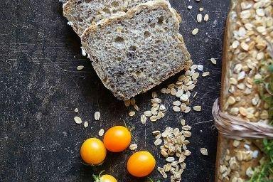 Chleb owsiany z łuską gryczaną