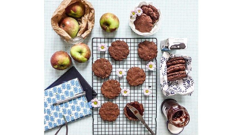 Piernikowe ciastka owsiane z powidłami