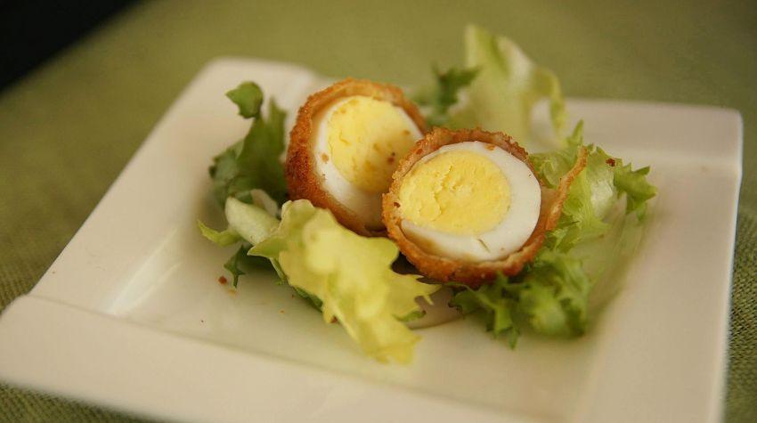 Panierowane jajeczka przepiórcze
