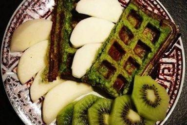 Zielone gofry