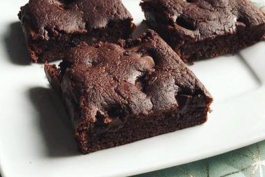 Fasolowe mocno czekoladowe brownie