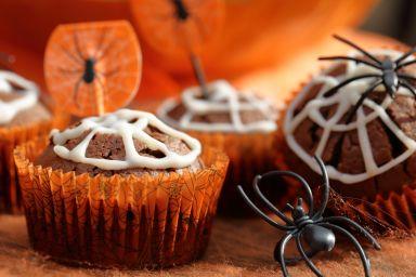 Przekąski na Halloween: dyniowe babeczki
