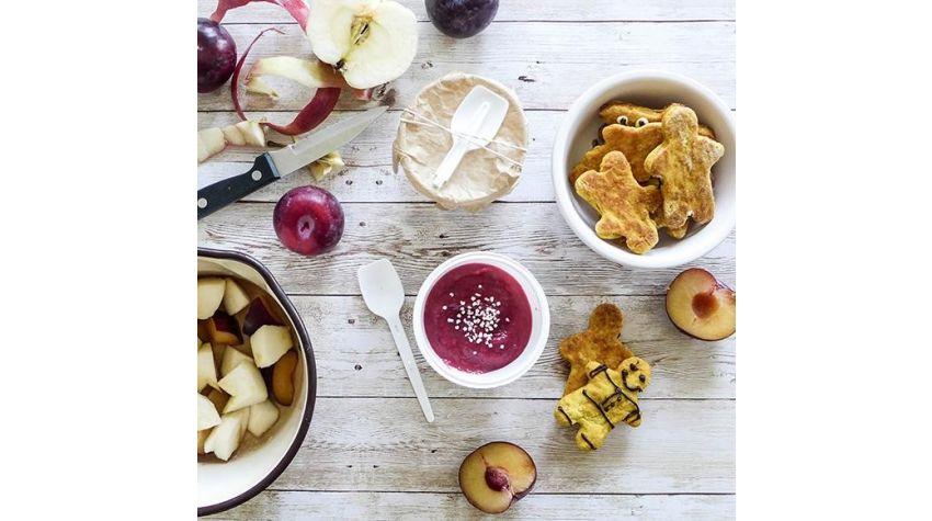 Jesienny mus jabłkowo-śliwkowy i dyniowe ciasteczka