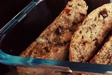 Pełnoziarniste ciasteczka z orzechami