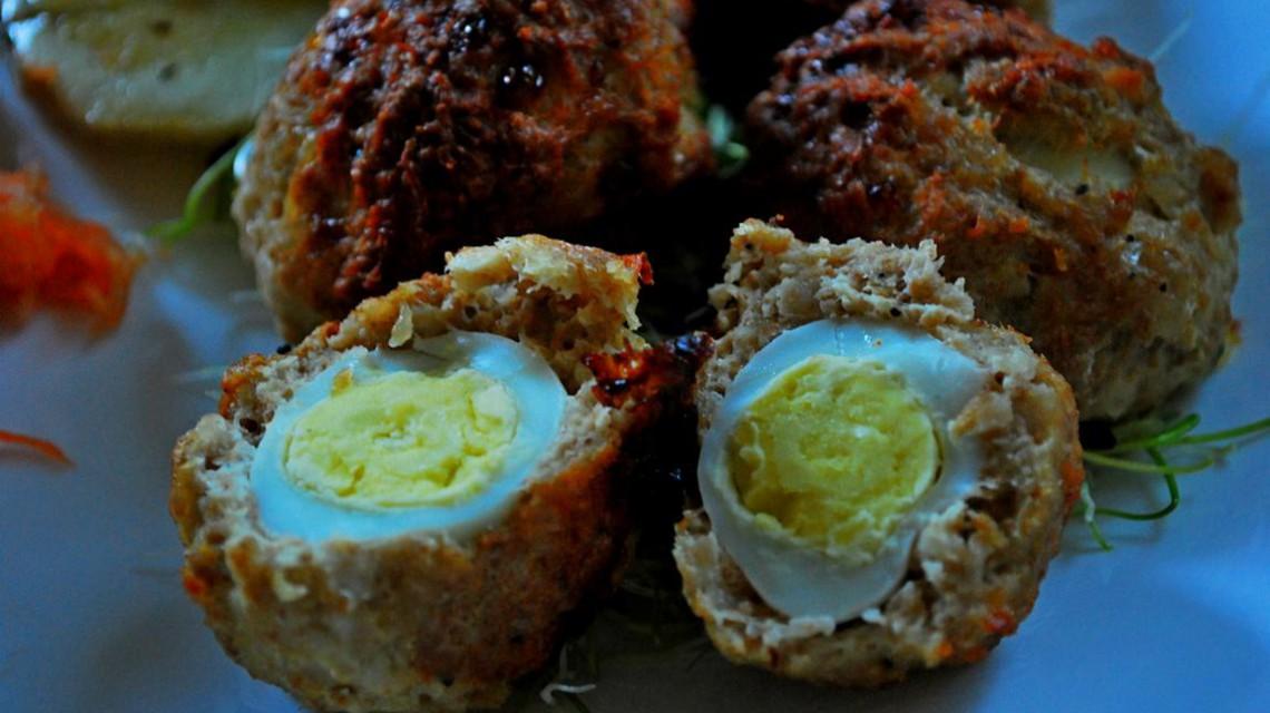 Pieczone jajka przepiórcze