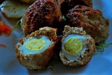 Pieczone jajka przepiórcze po szkocju