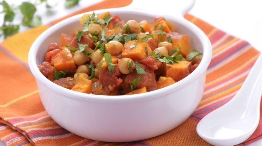Curry warzywne z batatami