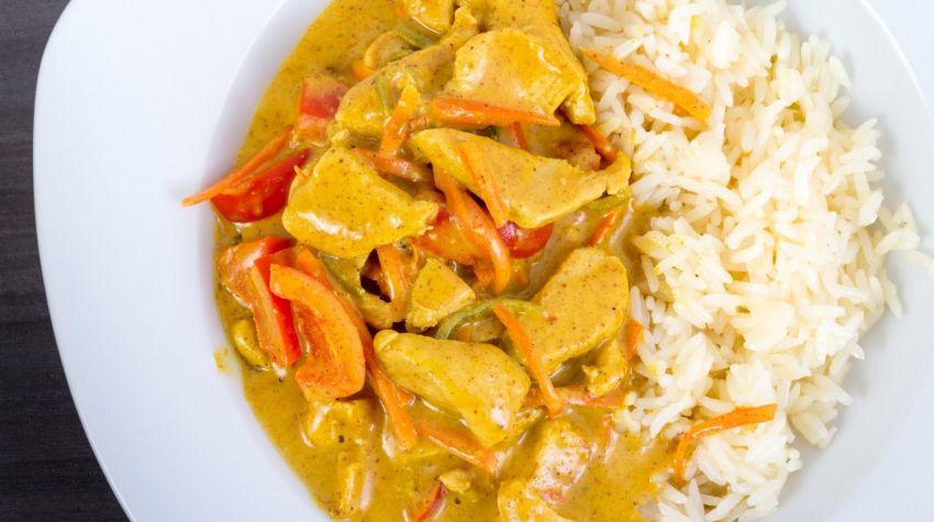 Ryż curry z kurczakiem i dynią