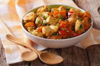 Curry z kurczaka z batatami