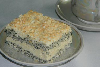 Ciasto makowe z masą kokosową