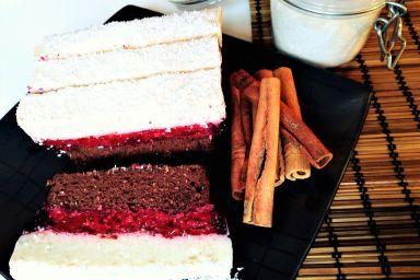 Dietetyczne ciasto Czekolada-Malina-Kokos