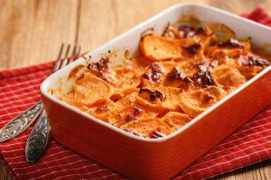 FIT KOLACJA: Imbirowa zapiekanka z batata i fasoli