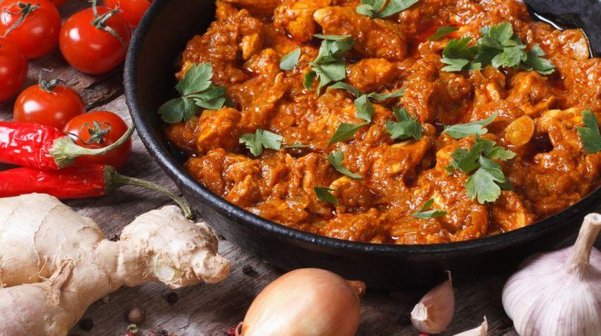Orzechowe curry z kurczaka