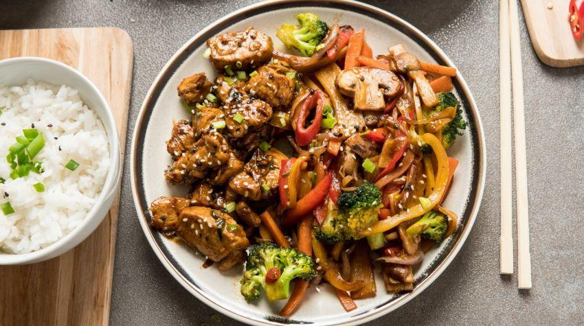 Kurczak po chińsku stir fry