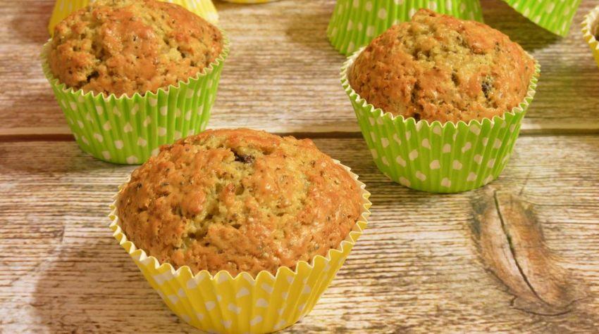 Muffiny cytrynowe z czekoladą