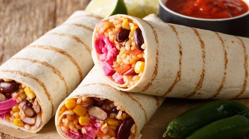 Meksykańskie burrito w wersji wege
