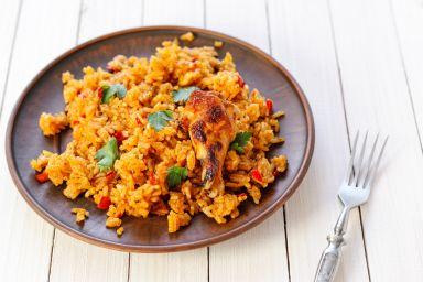 Danie jednogarnkowe: kurczak z ryżem