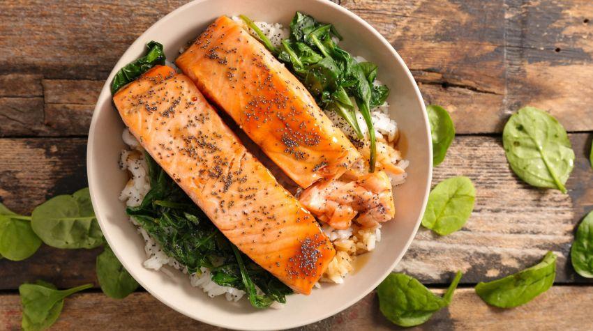 Ryba zapiekana ze szpinakiem