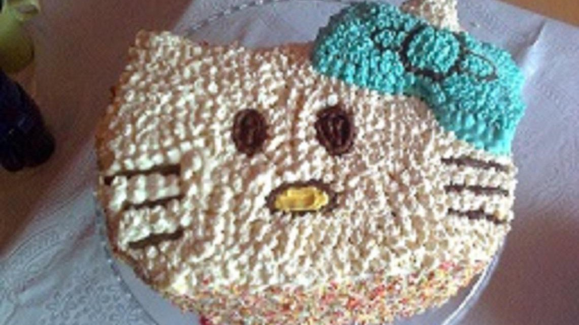 Ciasto w kształcie kota.
