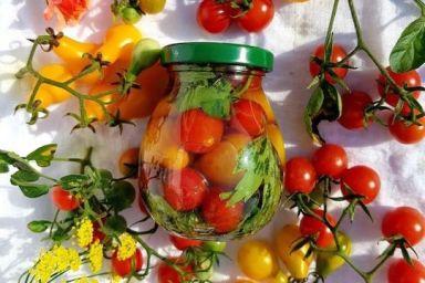 Pomidorki koktajlowe marynowane w oliwie z ziołami
