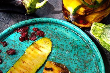 Grillowane warzywka skąpane w oleju z dodatkiem cytryńca chińskiego