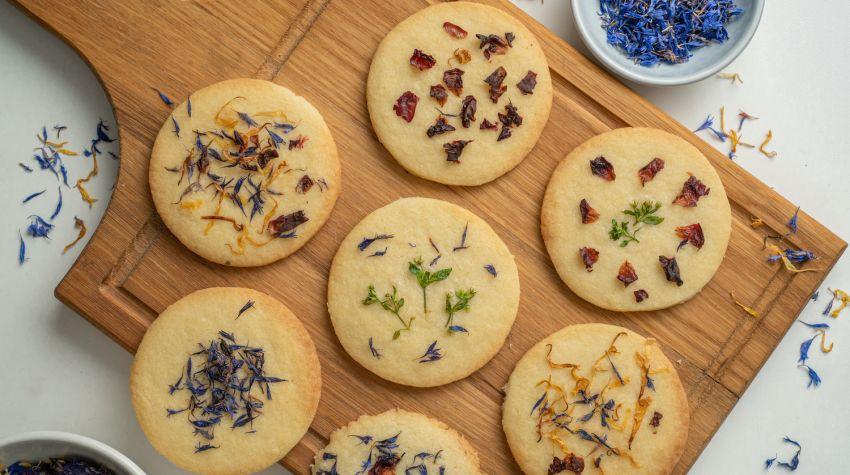 Ciasteczka z kwiatami