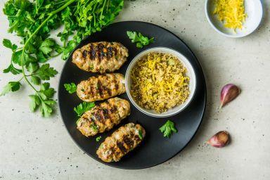 Kofta kebab z cytrynową komosą ryżową