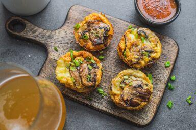Wytrawne muffiny z grzybami