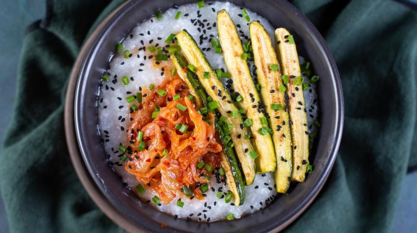 Congee z warzywami