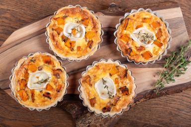 Tartaletki z dynią i kozim serem