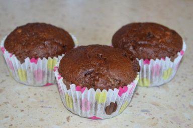 Muffiny bananowo-czekoladowe
