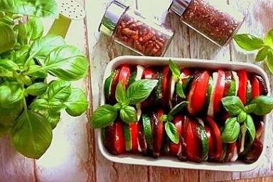 Zapiekane warzywa z mozarellą