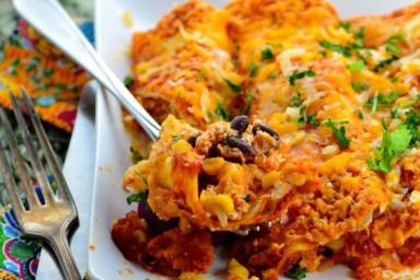 Pieczone wegetariańskie Enchiladas