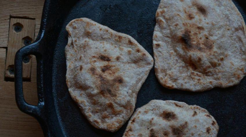 Orkiszowe chlebki chapati