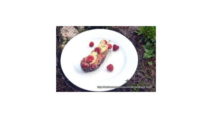 Zapiekane bakłażany kuskusem z malinam