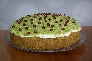Ciasto szpinakowe z owocami