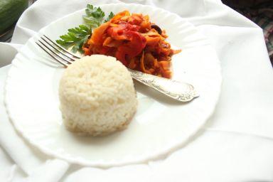 Tagliatelle warzywne z ryżem