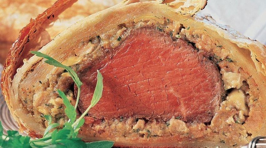Filet wołowy w cieście francuskim