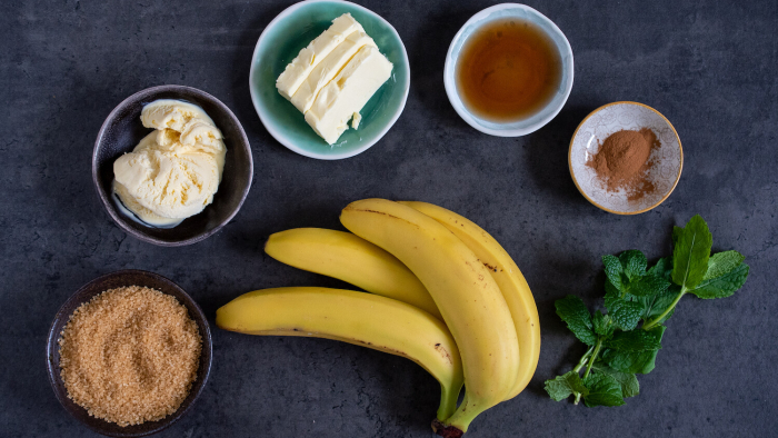 Banany Foster - krok 1