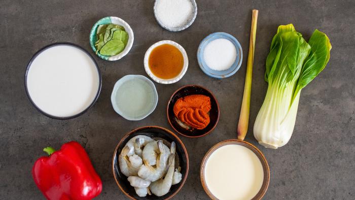 Czerwone curry z krewetkami - krok 1