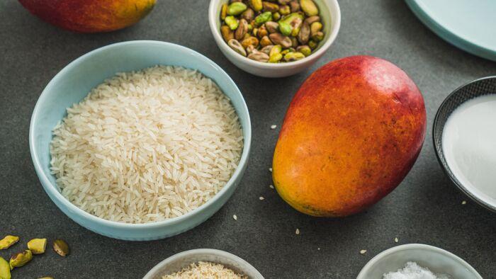 Ryż z mango - krok 1