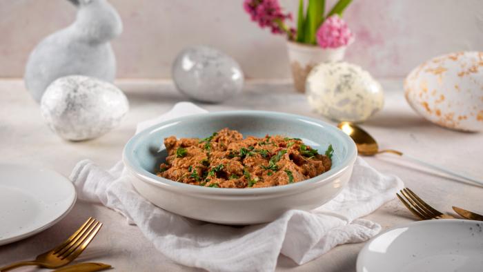 Polędwiczki z suszonymi pomidorami i sosem śmietanowym - krok 3