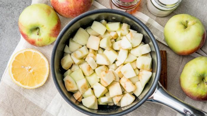 Mus jabłkowy - krok 1