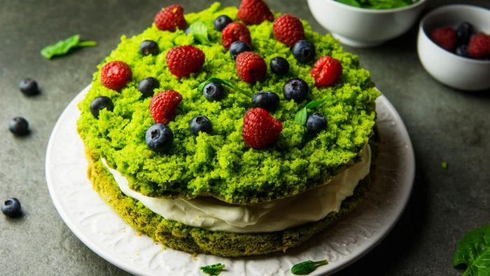Ciasto leśny mech - krok 3