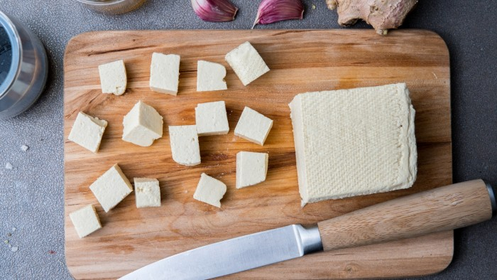 Marynowane tofu - krok 1